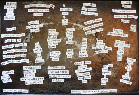 magnetic poetry by Marla Goodman