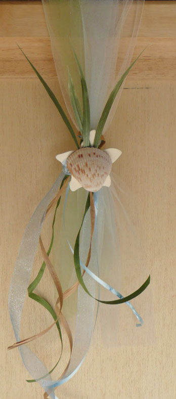 Beach wedding chair sash
