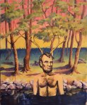 """Bathing Lincoln"" by original artist and Marla Goodman, 2014 (sold)"