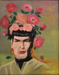 """Spock Frida"" by original artist and Marla Goodman, 2014 (sold)"