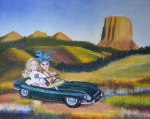 """Road Trip"" by original artist and Marla Goodman, 2014 (sold)"