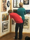 """This boy is viewing my work, """"Swingset Fire"""""""