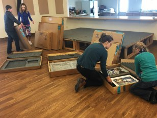 After the visit, the older students helped Tess pack up the Art Mobile.