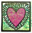 """Gratitude 3-3/4"" x 3-3/4"" block print by Lori Keeling Campbell"