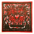 """Harold and Victoria"" 3-3/4""x 3-3/4"" block print by Lori Keeling Campbell"