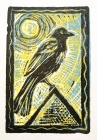 """Keeping Watch"" 2-1/4""x3-1/2"" block print by Lori Keeling Campbell"